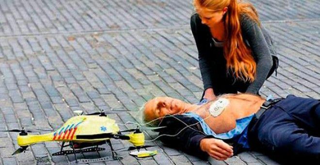 Bu helikopter hayat kurtaracak  Birleşik Basın  #alec #mamont #araç #defibrilatör #gps #hollanda #iha #kalp