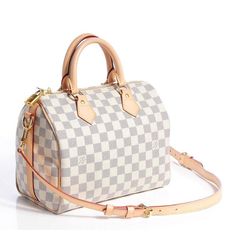 LOUIS VUITTON Damier Azur Speedy Bandouliere 25 bag, сумки модные брендовые, http://bags-lovers.livejournal.com/