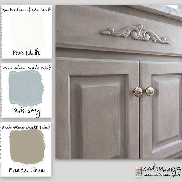 A builder grade bath is reinvented with paint. #Colorways #ChalkPaint #reinvent