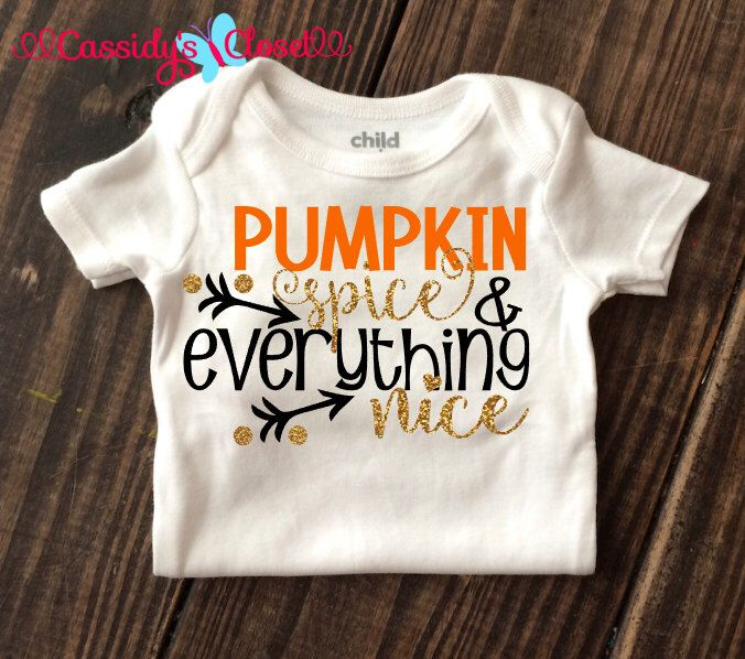 Pumpkin Spice Shirt Baby Girl Clothes Fall Baby Clothes Halloween Shirt Glitter Onesie Baby Onesie Baby Shower Gift Baby Girl Onesie Glitter by CassidyCloset on Etsy https://www.etsy.com/listing/248108259/pumpkin-spice-shirt-baby-girl-clothes