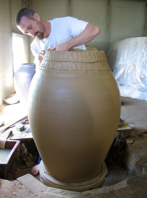 Adam Field Throwing A Korean Onggi Kimchi Pot Ceramic