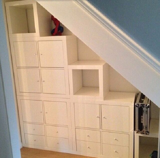 Ikea: in the closet under the stairs for a reading nook