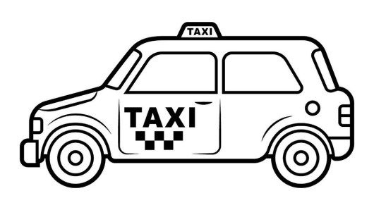 Taxi Vehicle Coloring Pictures Taxi Preschool Pictures New York Taxi