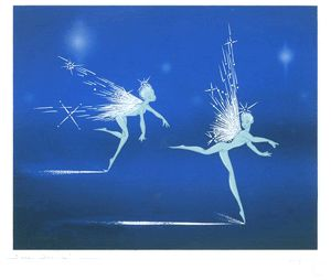 "Silver K Gallery - Disney Limited Editions. ""Winter Magic"" The Frost Fairies From Fantasia"