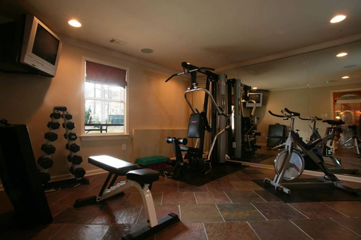 Basement gym.. This would totally be useful