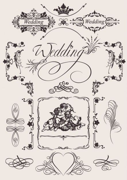 Great vector design elements for a wedding website #vintage #classic