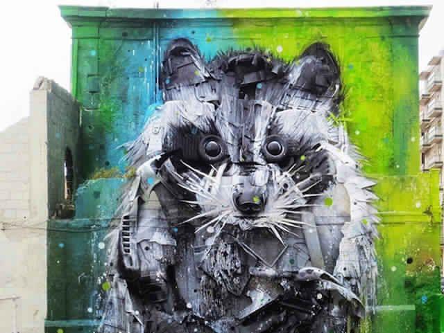Awe-inspiring-3D-Street-Art-Big-Raccoon-Lisbon-Bordallo_3