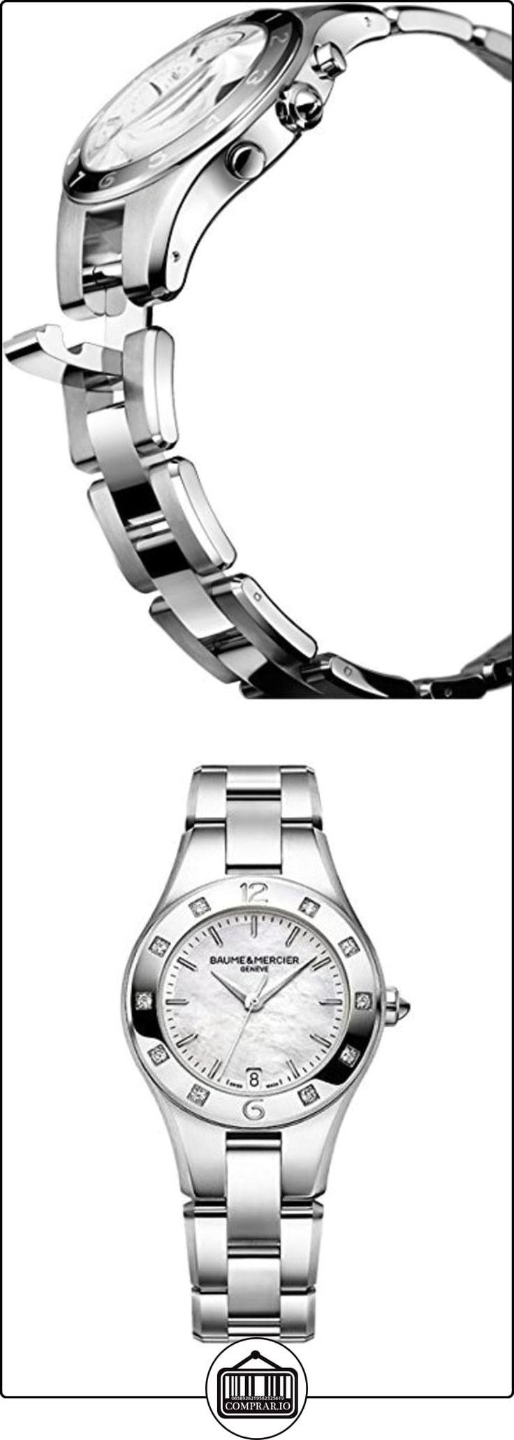 Baume & Mercier MA010035 - Reloj de pulsera Mujer, Acero inoxidable, color Plata  ✿ Relojes para mujer - (Lujo) ✿