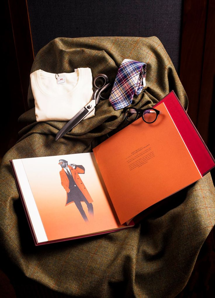 Whoever said classic tailoring is boring? Holland & Sherry, one of Britain`s historic woolen merchants, proves that true British style is full of colour. It`s all about knowing how to mix it up. • Woven silk Tartan tie by Drake's and filo di scozia under-shirt by Boglietti, both from Simon Skottowe Bespoke Tailors  • Vinylize by Tipton 'Barere' optical frames from Tipton Eyeworks