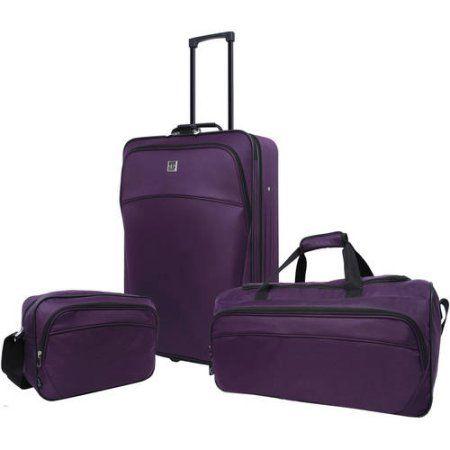 Protege 3-Piece Luggage Set, Purple