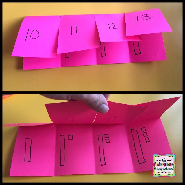 Use flap books to practice place value and work on teen numbers!  Kindergarten teen numbers!