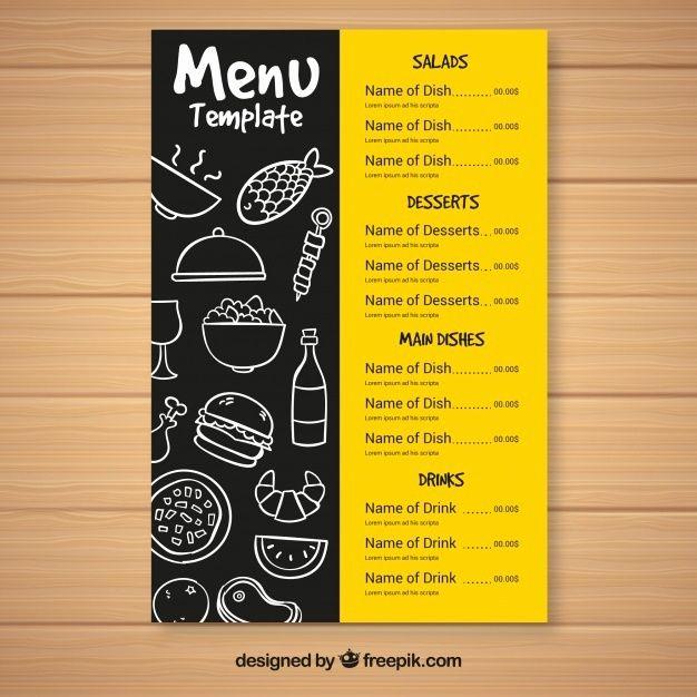 Restaurant Menu Layout Ideas Unique Food Menu Template Funfndroid