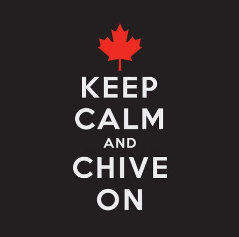 Canadian Keep Calm and Chive On Canad Sticker - KCCO ...