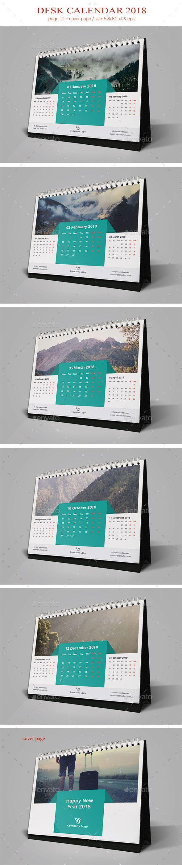 Desk #Calendar 2018 - Calendars #Stationery