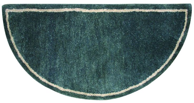 """Uniflame R-5000 22"""" High Forest Green Hand-Tufted 100% Wool Hearth Rug Wool Accessory Fireplace Rug"""