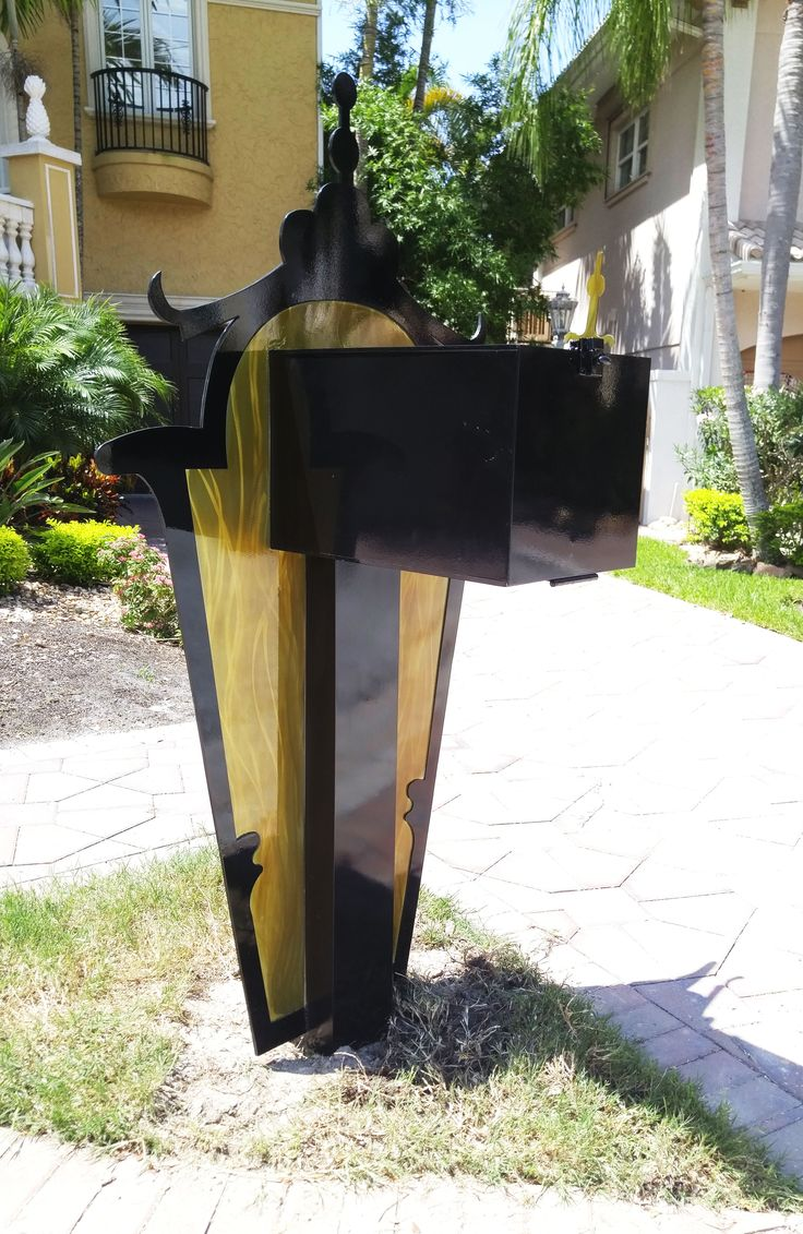 Another design by Dustin Miller, 100% original and custom metal (aluminum) mailbox sculpture.