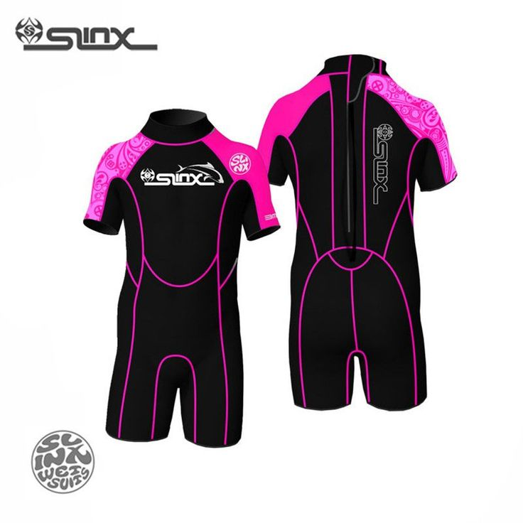 SLINX 1302 3mm Neoprene Children Kids Kite Surfing Snorkeling Boating Short Sleeve Wetsuit Winter Swimming Scuba Diving Suit