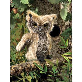 Folkmanis FM2961 Screech Owl Puppet.   Distributed by Kaleidoscope Australasia.
