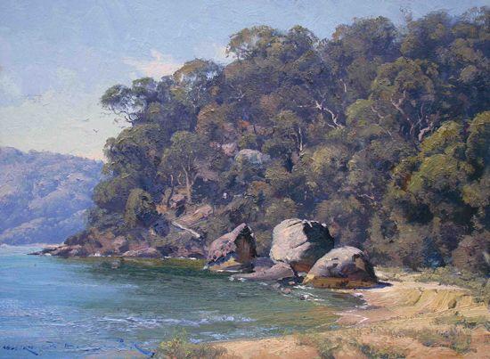 Warwick Fuller painting - Coastline Patonga