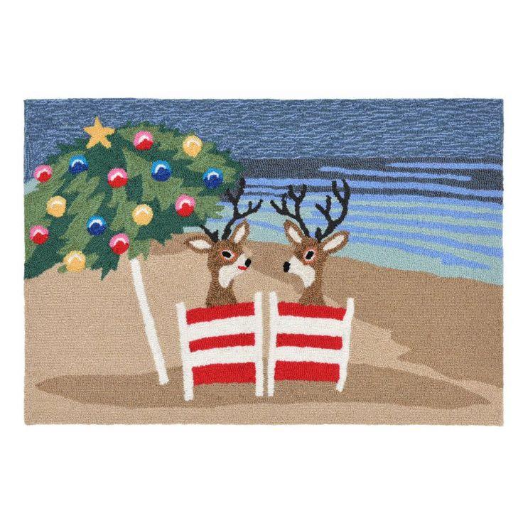 Liora Manne Coastal Christmas Door Mat - FTP12185444