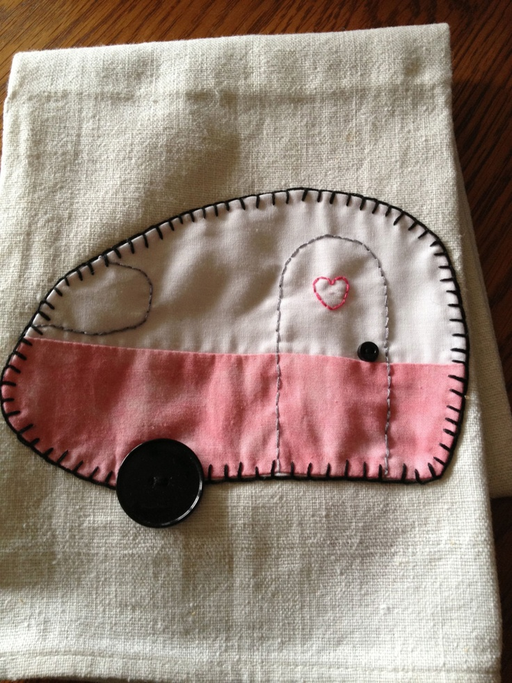 Glamping Dish Towel by SaylorsNest on Etsy