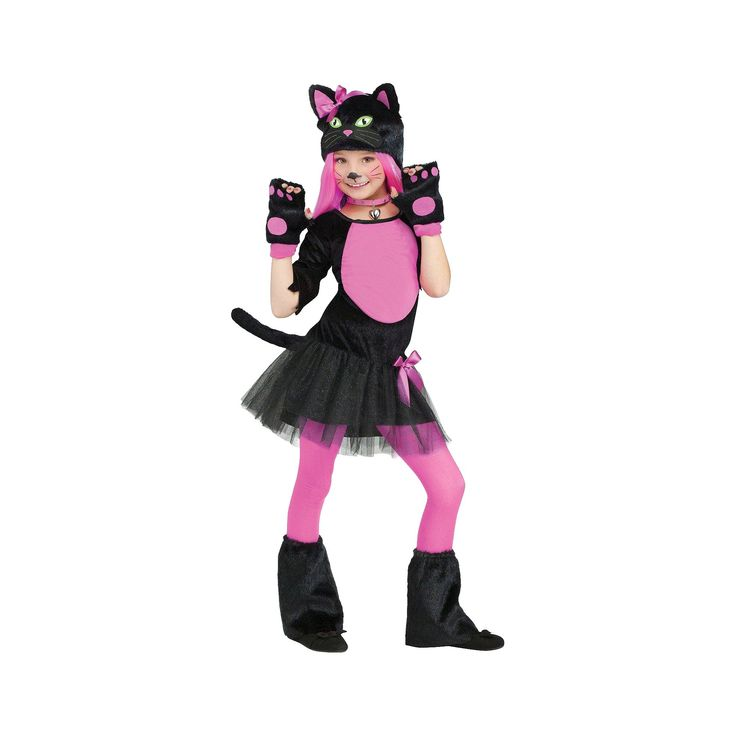 Halloween Girls' Miss Kitty Costume Large (12-14), Size: L (12-14), Variation Parent