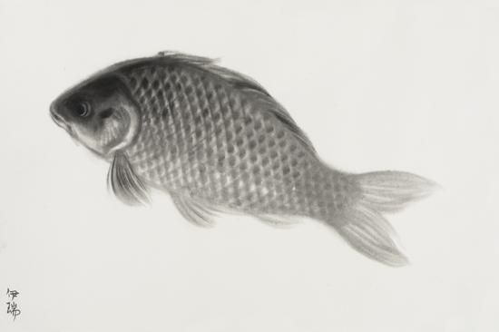 鱼系列3 167x110cm 宣纸水墨