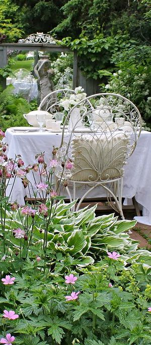 """Beyond Fashion Pin of the week for Sept 5th, 2016, chosen by Judy Shoup and pinned by Stunning Expression.  What a lovely garden retreat pin. . . a perfect place for afternoon tea with friends.  Truely a """" Stunning Expression """" of your personal style."""