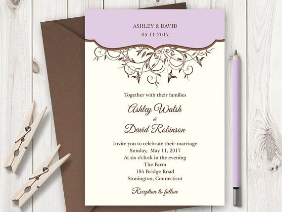 10 best Wedding Invitation Templates  - wedding announcement template
