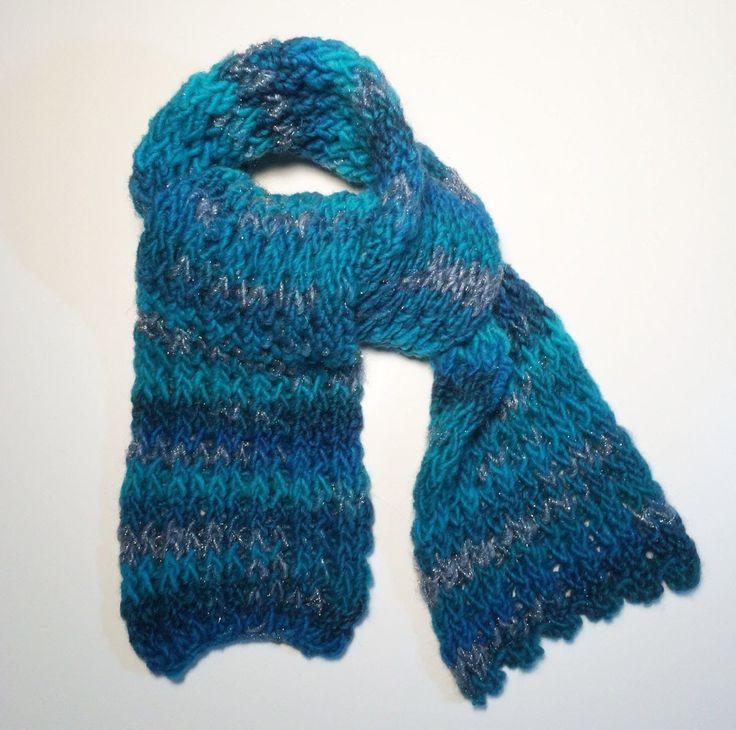 Dikke sjaal breien op een loombord makkelijk en voor beginners.