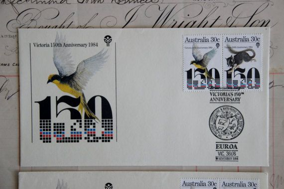 Vintage Australian First Day Covers - Helmeted Honeyeater and Leadbeater's Possum