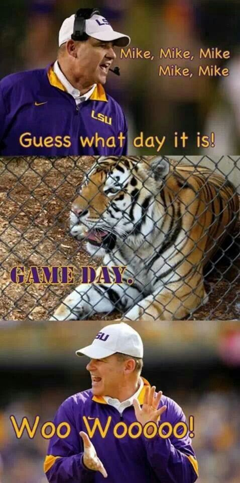 LSU. It's game day folks!!!!!!!!!!!!!!!!!!!!!!!!  LSU . No babies in my house but I love this! Someone needs it @Kristen - Storefront Life - Storefront Life Ramsey  Are you a LSU Tiger Fan? Do you know an LSU fan? Or do you need something to give to someone who hates LSU as a prank? No matter what you need, this LSU poster is perfect for the college sports fan in your life. See more sports gifts here www.teamspiritstore.net/
