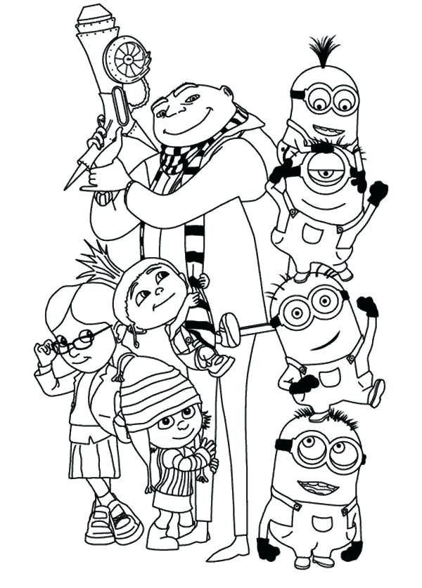 Minion Coloring Pages Printablepdf For Kids Coloringfolder Com Minion Coloring Pages Minions Coloring Pages Family Coloring Pages