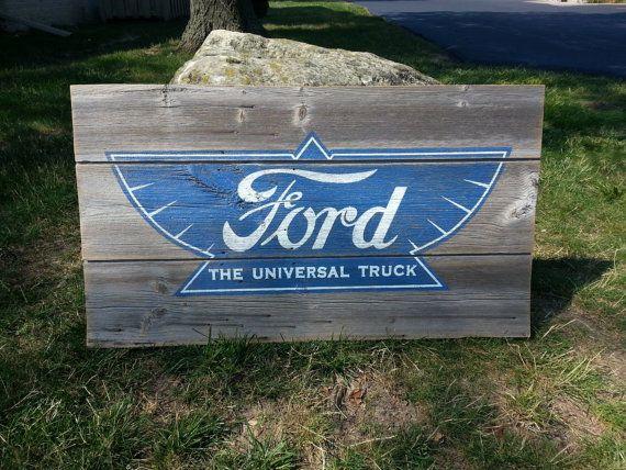 1919 Ford Sign on Barnwood. on Etsy, $60.00
