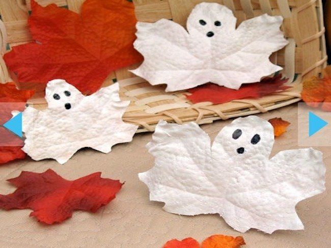 Sabías que un poco de pintura puede convertir las hojas otoñales en fantasmas? jejejeje