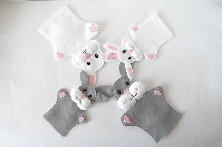 Bunny puppets  - puppets for children, children toy, puppet theatre  - by FeltforAdults on Etsy https://www.etsy.com/listing/227913639/bunny-puppets-puppets-for-children