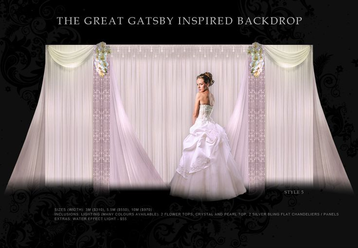 Wedding Backdrop with Butterfly Orchids Decor