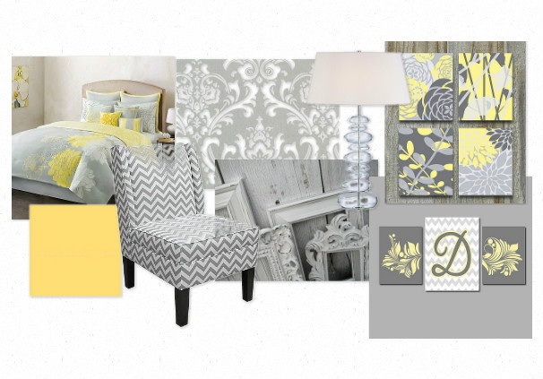 gray and yellow master bedroom elements design decor