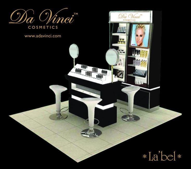 La'bel Makeup Kiosk Store by Da Vinci Cosmetics, perfect