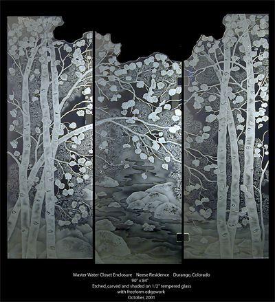 biombo arte manual vidre grabado de vidrio vidrio grabado las cabinas de ducha de vidrio rboles pintados rboles de lamo diseos de rboles