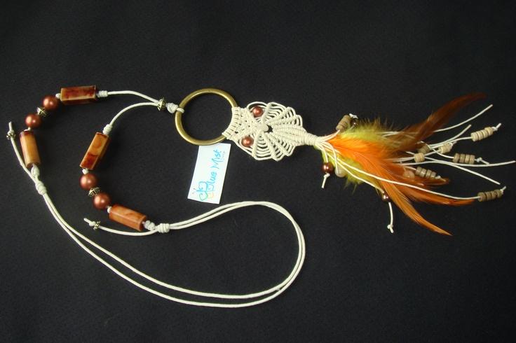 Owl macrame necklace