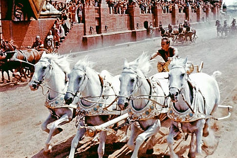 Charlton Heston in Ben Hur. They don't make childhood heroes like him anymore...