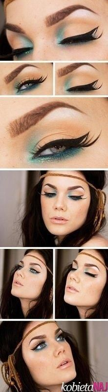 Wonder if this would look cute on my eyes...unique makeup - Oh my gosh! I love this