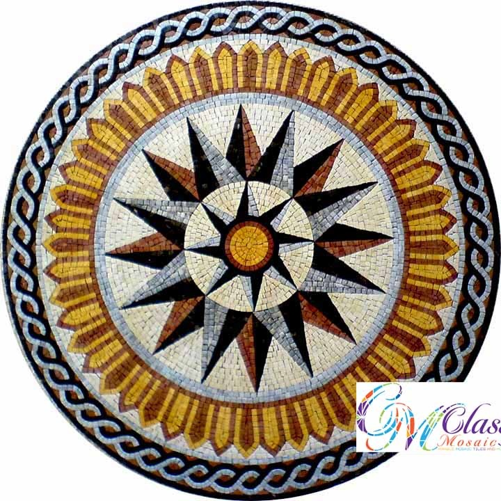 MD047 Marble Mosaic Medallion