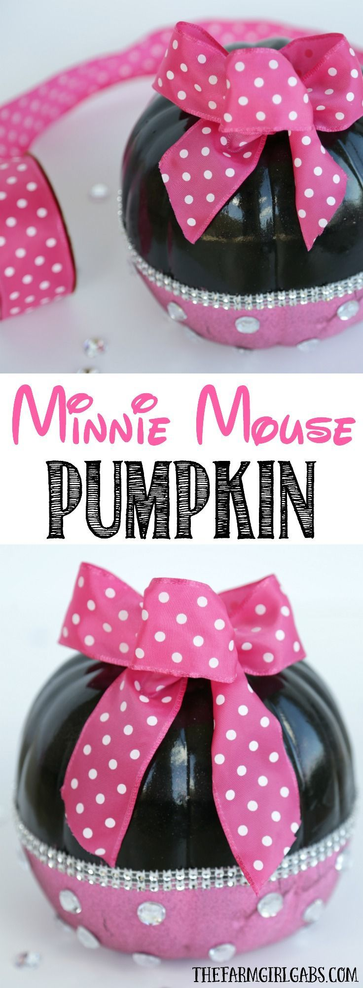 And fashion magic halloween pumpkins carving and decorating ideas - Diy Minnie Mouse Pumpkin