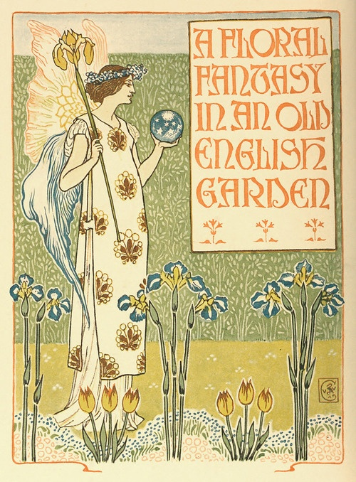 Illustration by Walter Crane, taken from A Floral Fantasy in an Old English Garden, Harper, 1898.  Via archive.org