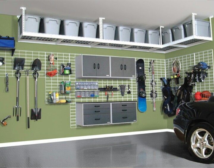 Garage organization. My garage has so much wasted overhead space....this is a summer project must!