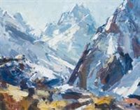 From Mt Cook Village by John Badcock