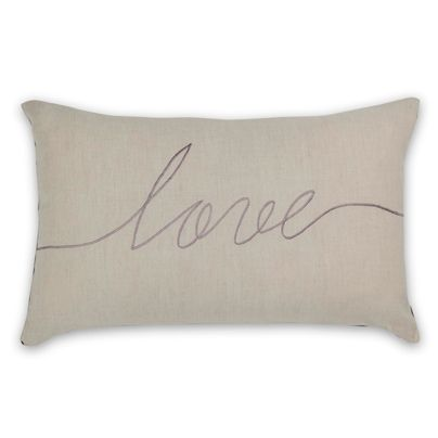 Simple, pretty, perfect for our family couch.... oh and on SALE ;)  30x50cm Love cushion Wisteria