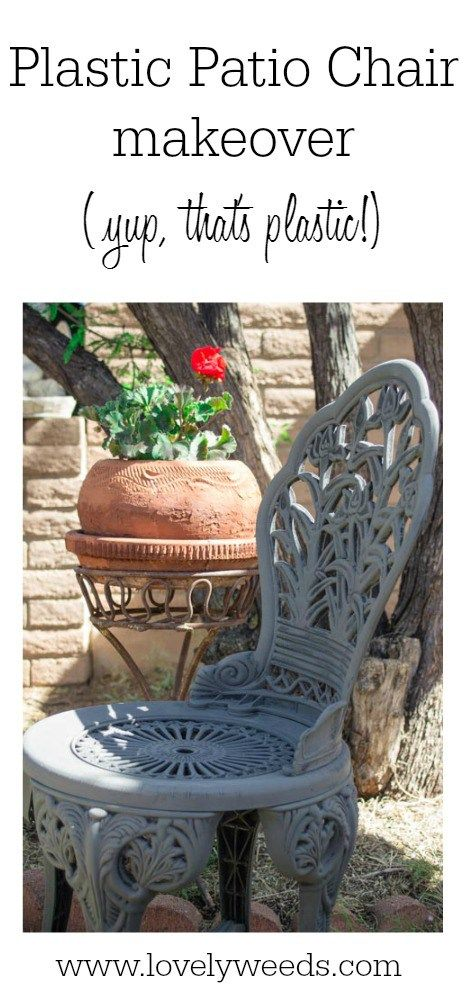 Plastic patio chair makeover {www.lovelyweeds.com}